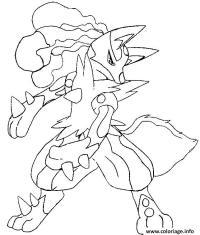 Coloriage Evolution Pokemon.Coloriage Pokemon Mega Lucario Lgant Dessin A Imprimer