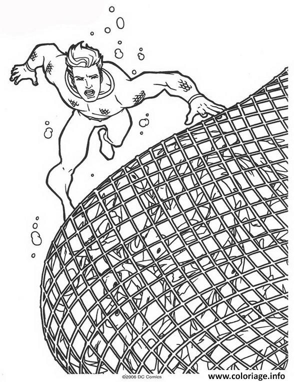 Coloriage Aquaman A Capture Les Mechants dessin