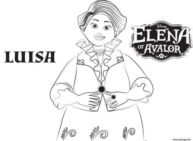 Coloriage Elena Of Avalor Luisa Disney Dessin Elena D Avalor à