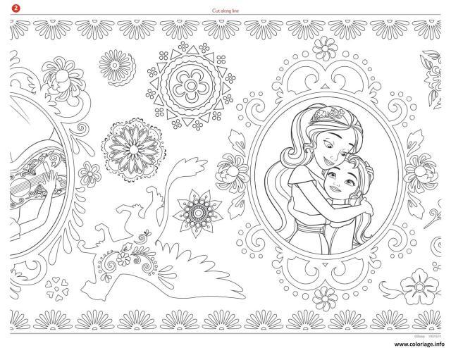 Coloriage mandala zentagle adulte disney elena avalor - JeColorie.com
