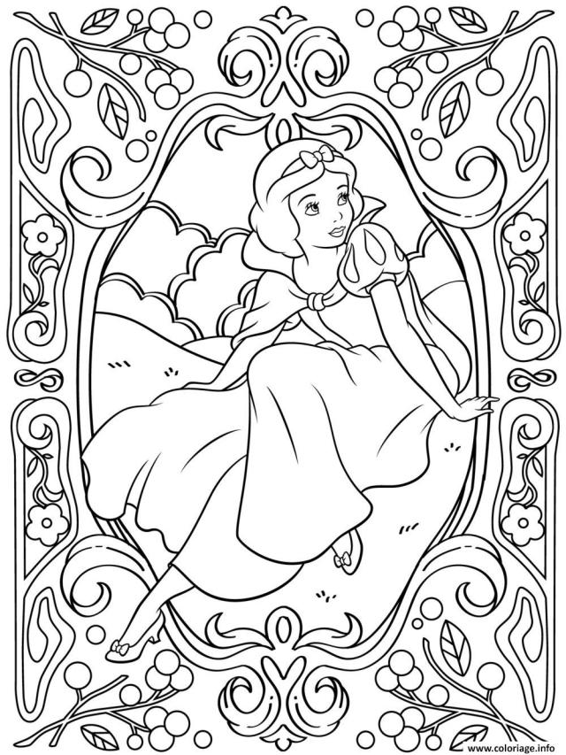 Coloriage Mandala Disney Princesse Blanche Neige Dessin Mandala