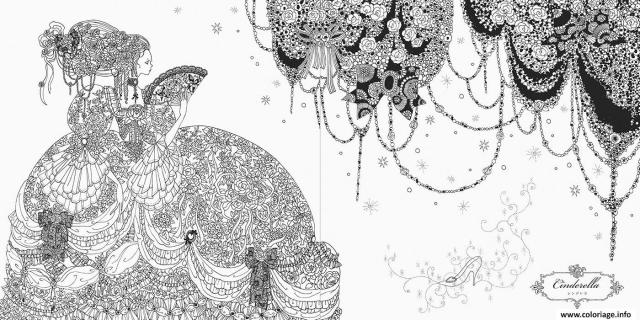 Coloriage mandala disney princesse cendrillon - JeColorie.com