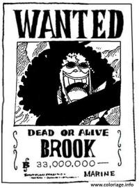 Brook One Piece A Colorier