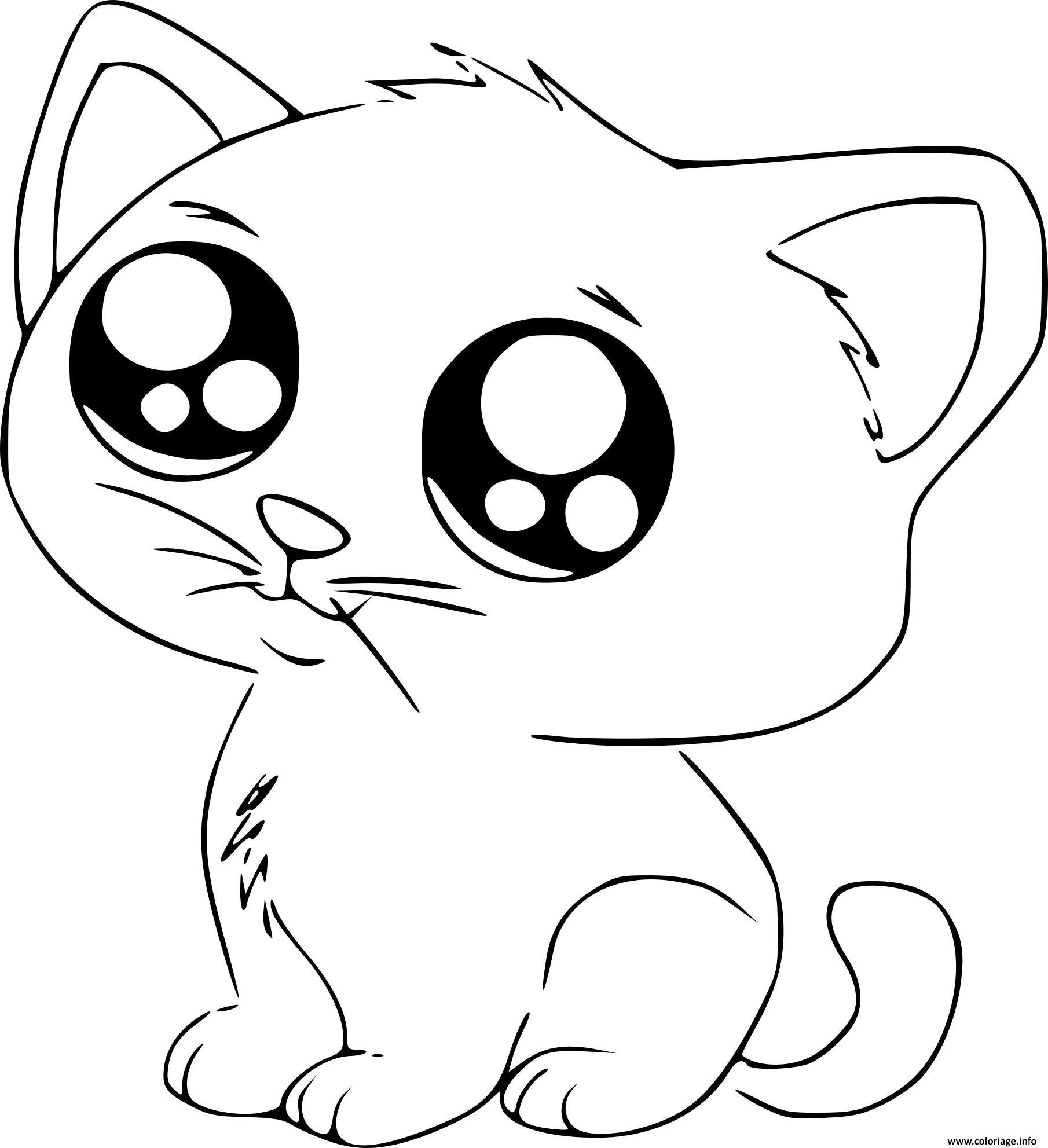 Coloriage a imprimer chatons trop mignon gratuit - Coloriage chaton a imprimer ...