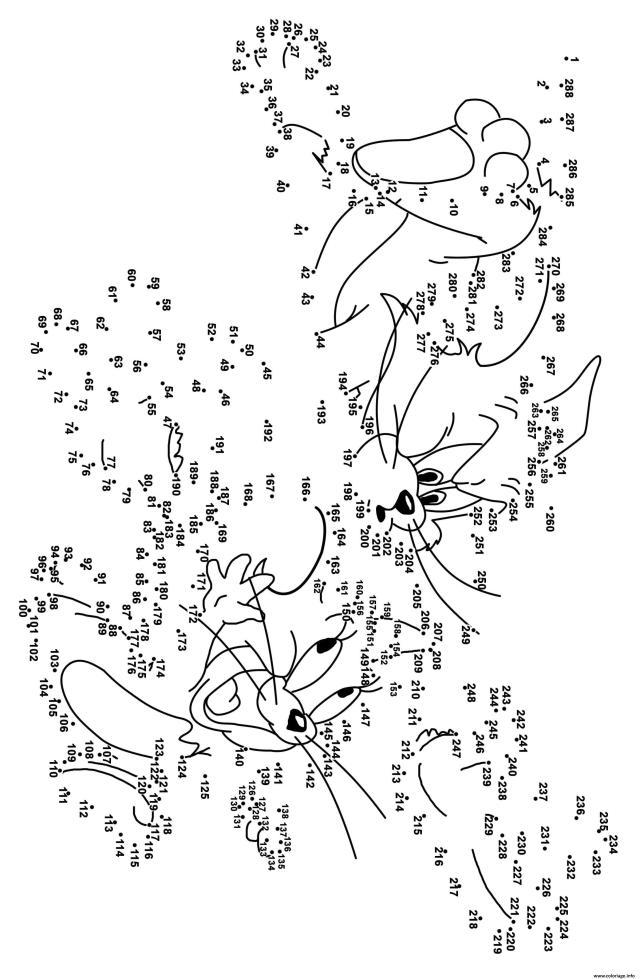 Coloriage Point A Relier Adulte Difficile 14 Points Tom Et Jerry