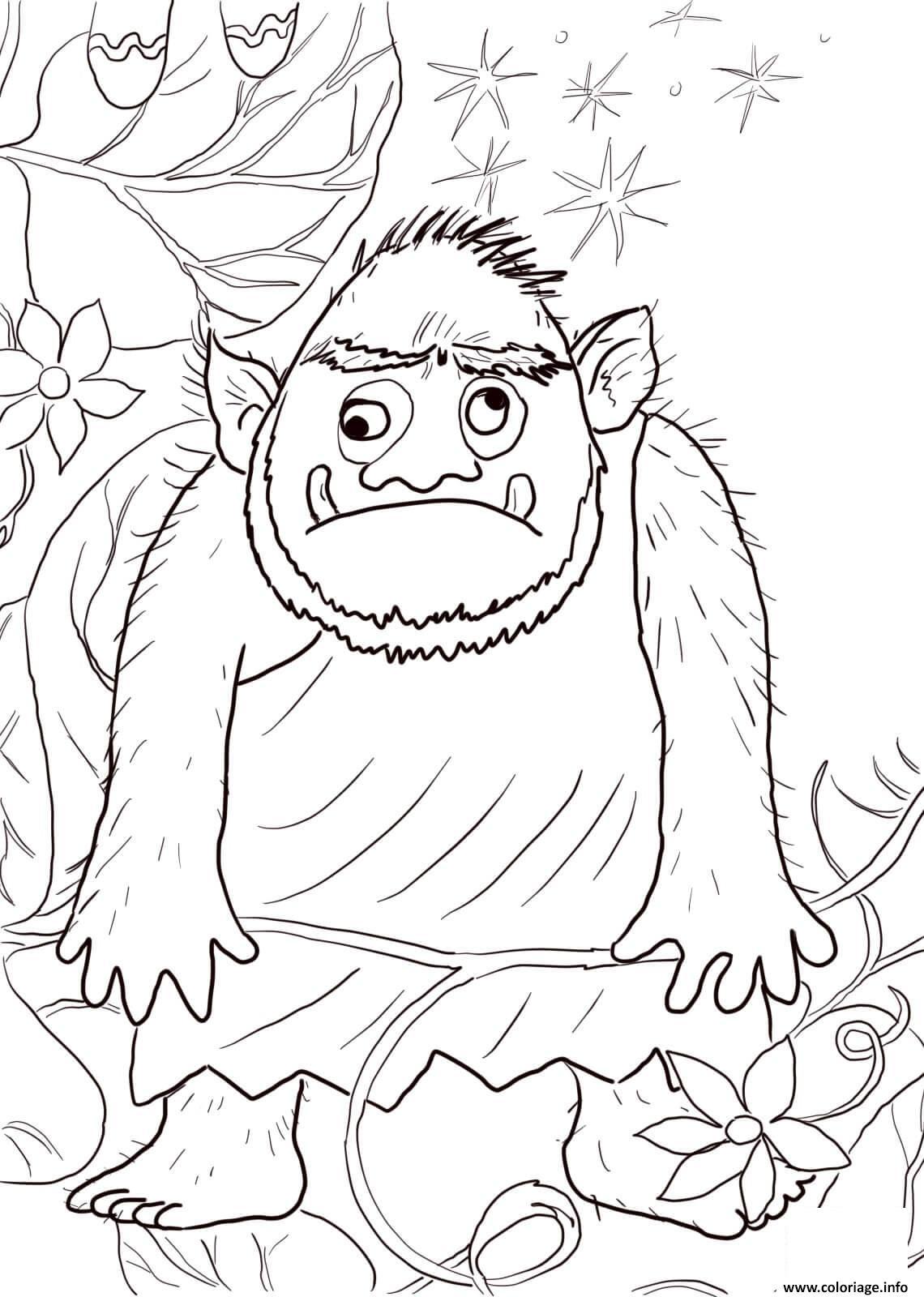 Coloriage Ogre Avec Les Yeux En Haut Et En Bas Dessin