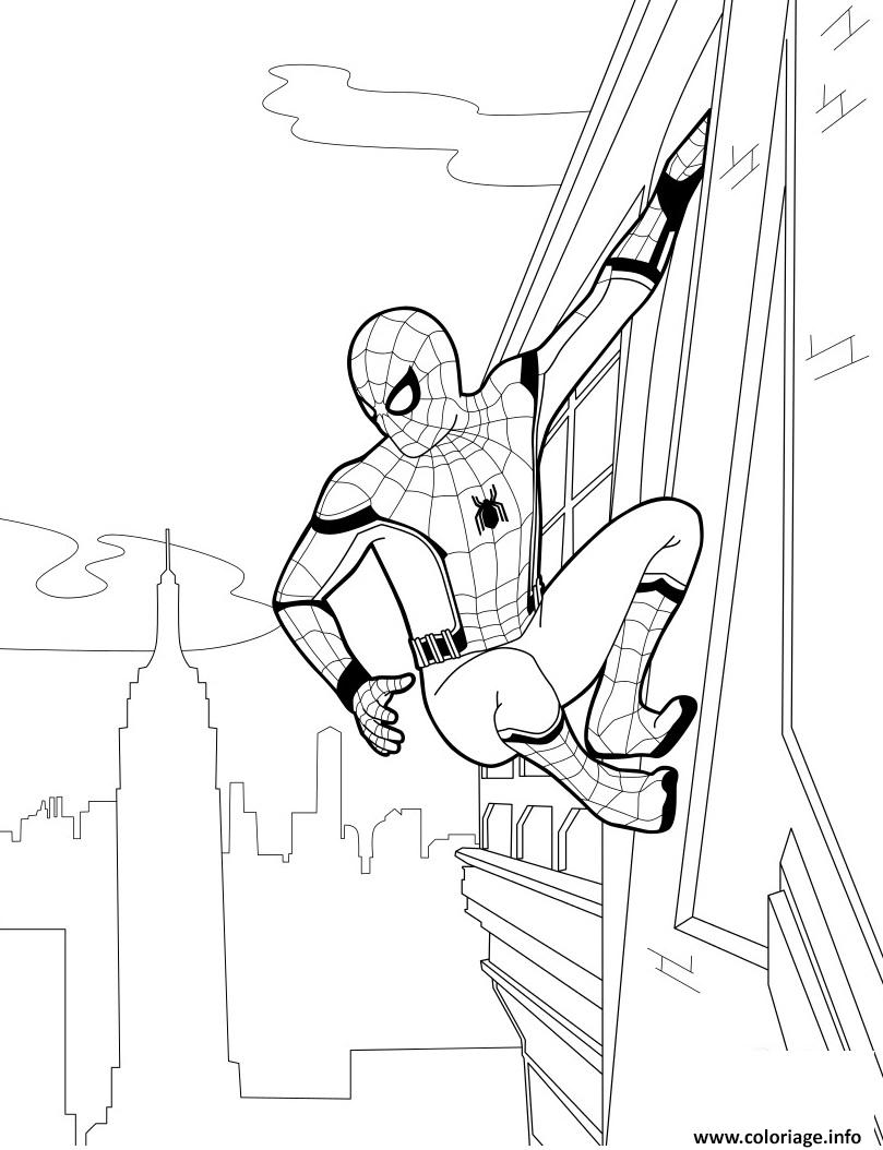 Coloriage Spider Man Homecoming dessin