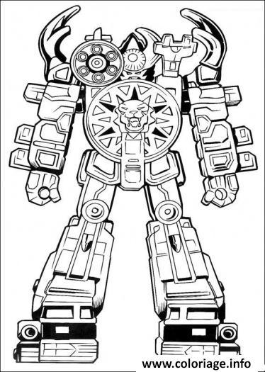 Coloriage Power Ranger Robot dessin