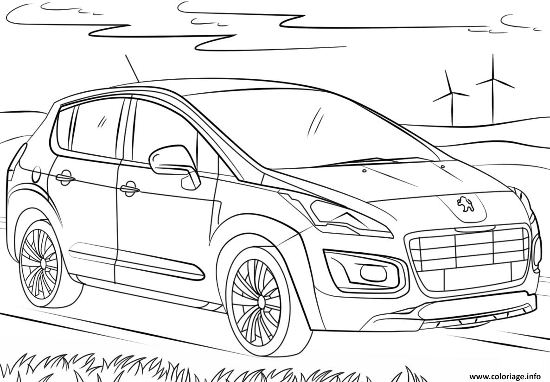 Coloriage Voiture Peugeot Dessin