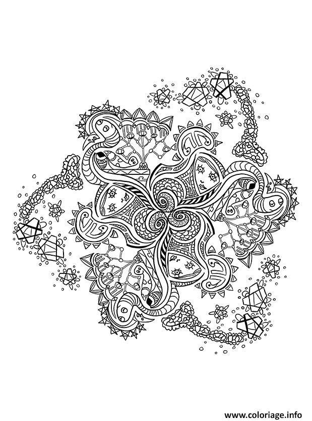 Coloriage Mandala Pattern Adulte Anti Stress Dessin