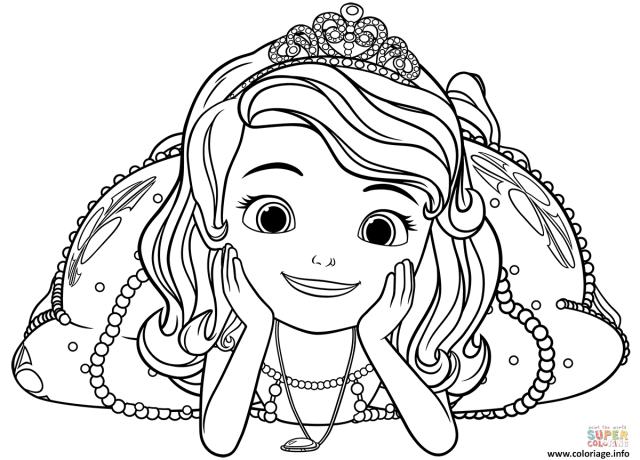 Coloriage Princesse Sofia Grand Sourire Dessin Princesse Sofia à