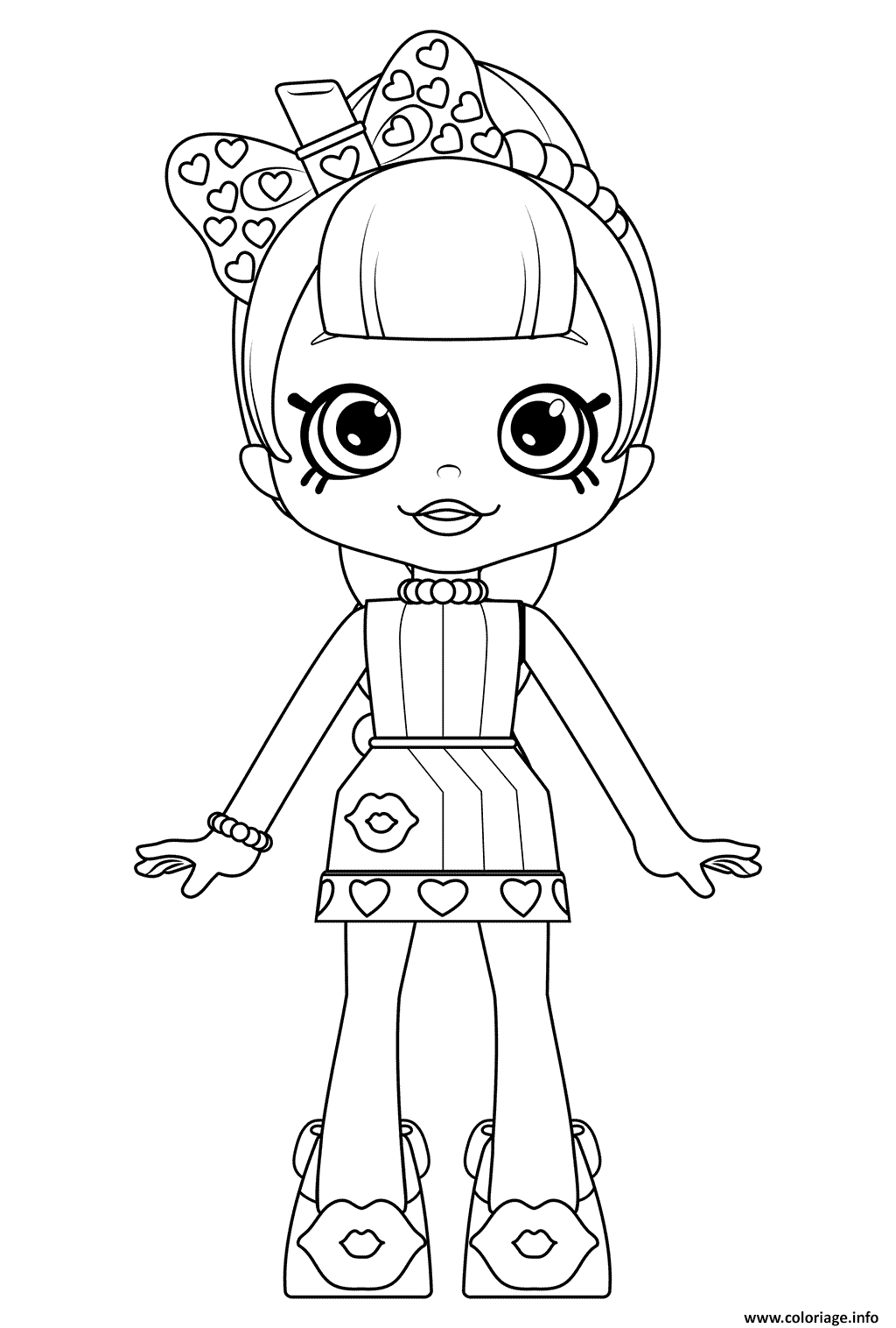 Coloriage Cute Shoppies Doll Lippy Lulu Coloring dessin
