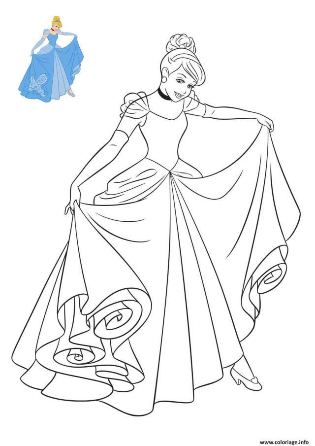 Coloriage Princesse Disney Cendrillon Dessin Princesse Disney à