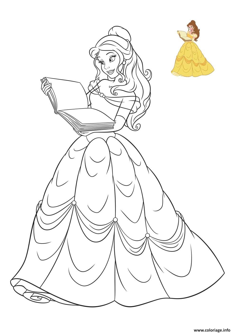 Dessin La Belle Et La Bete : dessin, belle, Coloriage, Princesse, Disney, Belle, Dessin, Imprimer