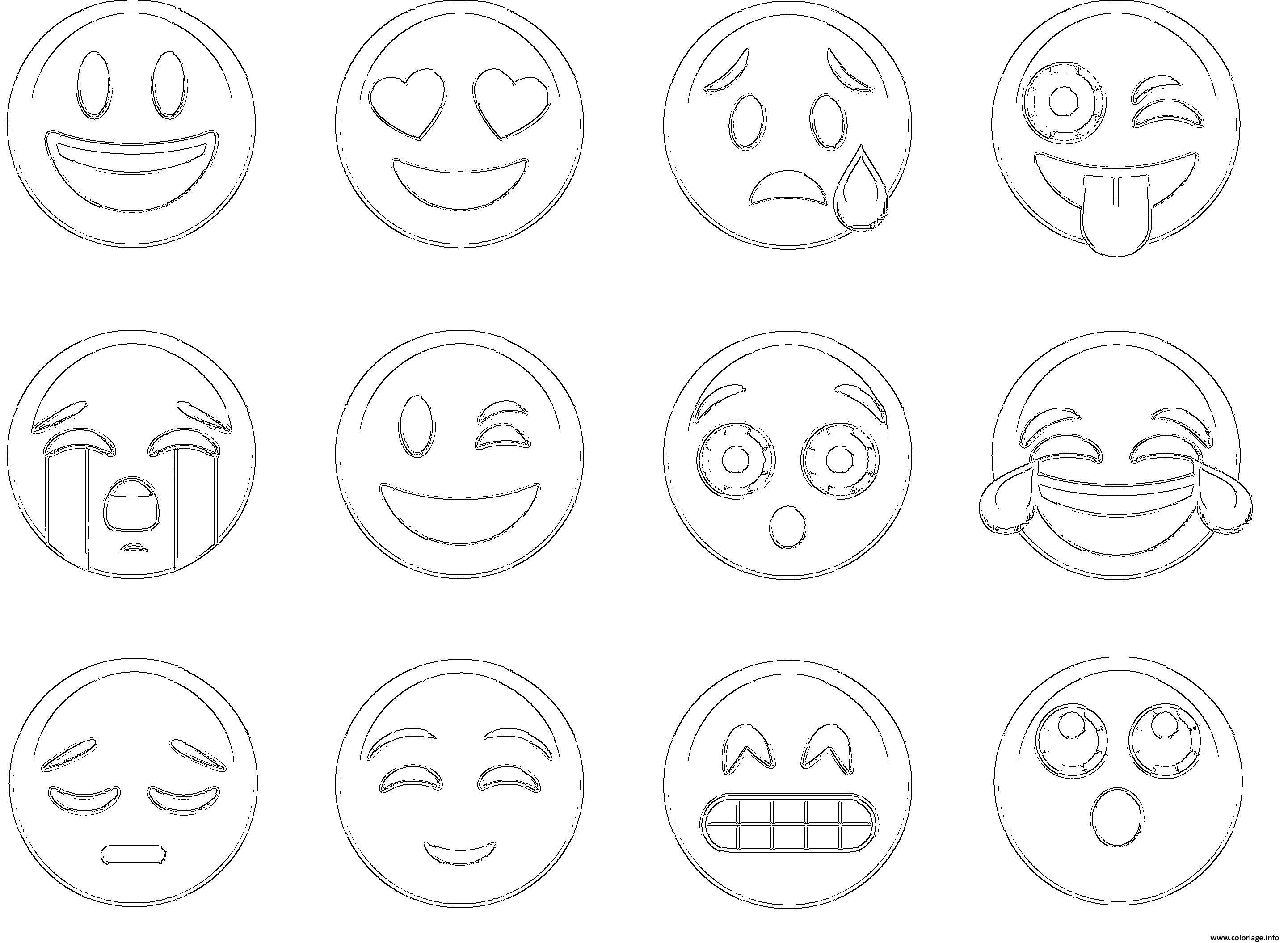 Coloriage Emoji Ios New List dessin