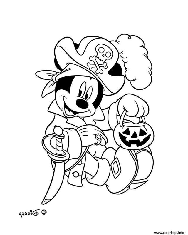 Coloriage Mickey Mouse Pirate Disney Dessin Pirate à imprimer