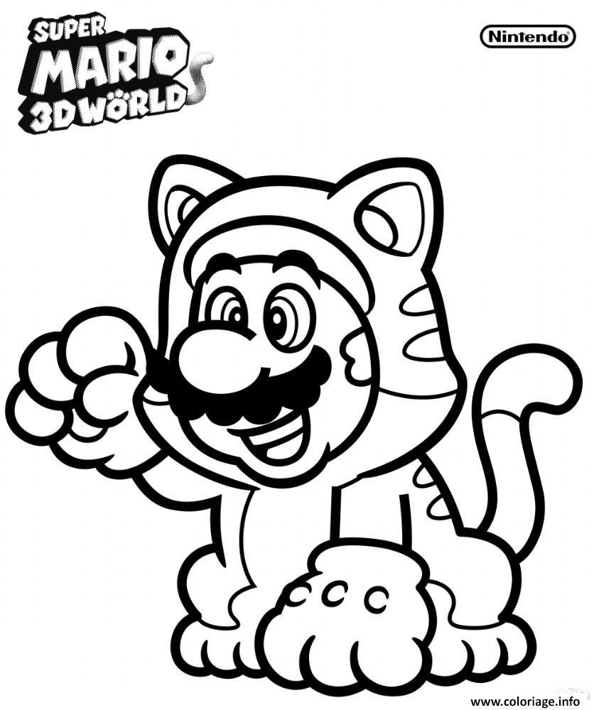 Coloriage Mario Odyssey dessin