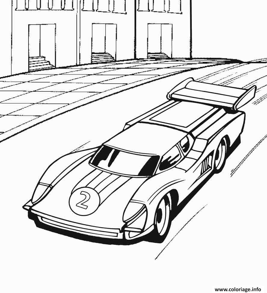 Coloriage Hot Wheels Voiture De Course dessin