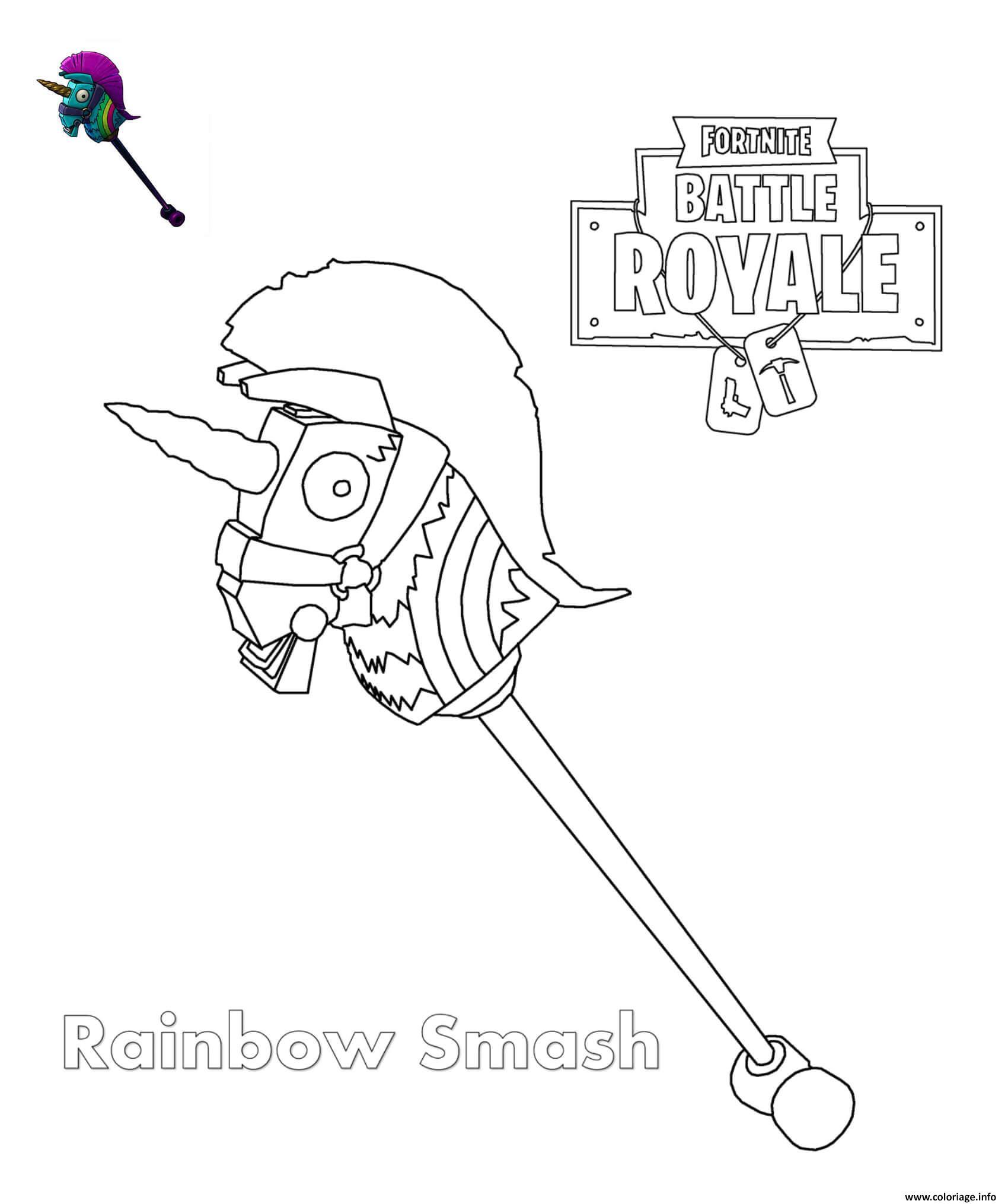 Coloriage Rainbow Smash Fortnite Dessin