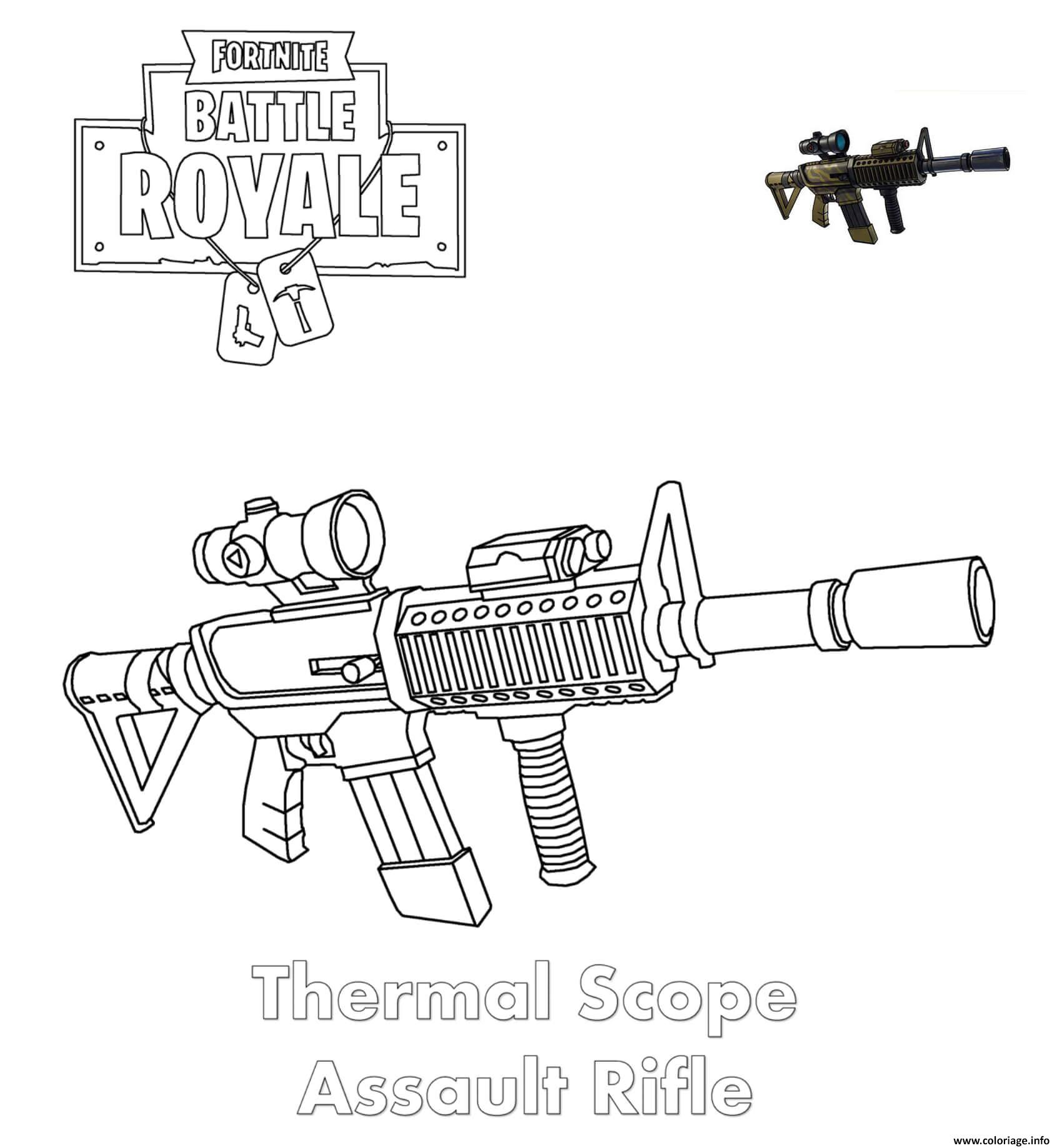 Fortnite Rifle Scar Coloring Page Imprimer En Coloriage