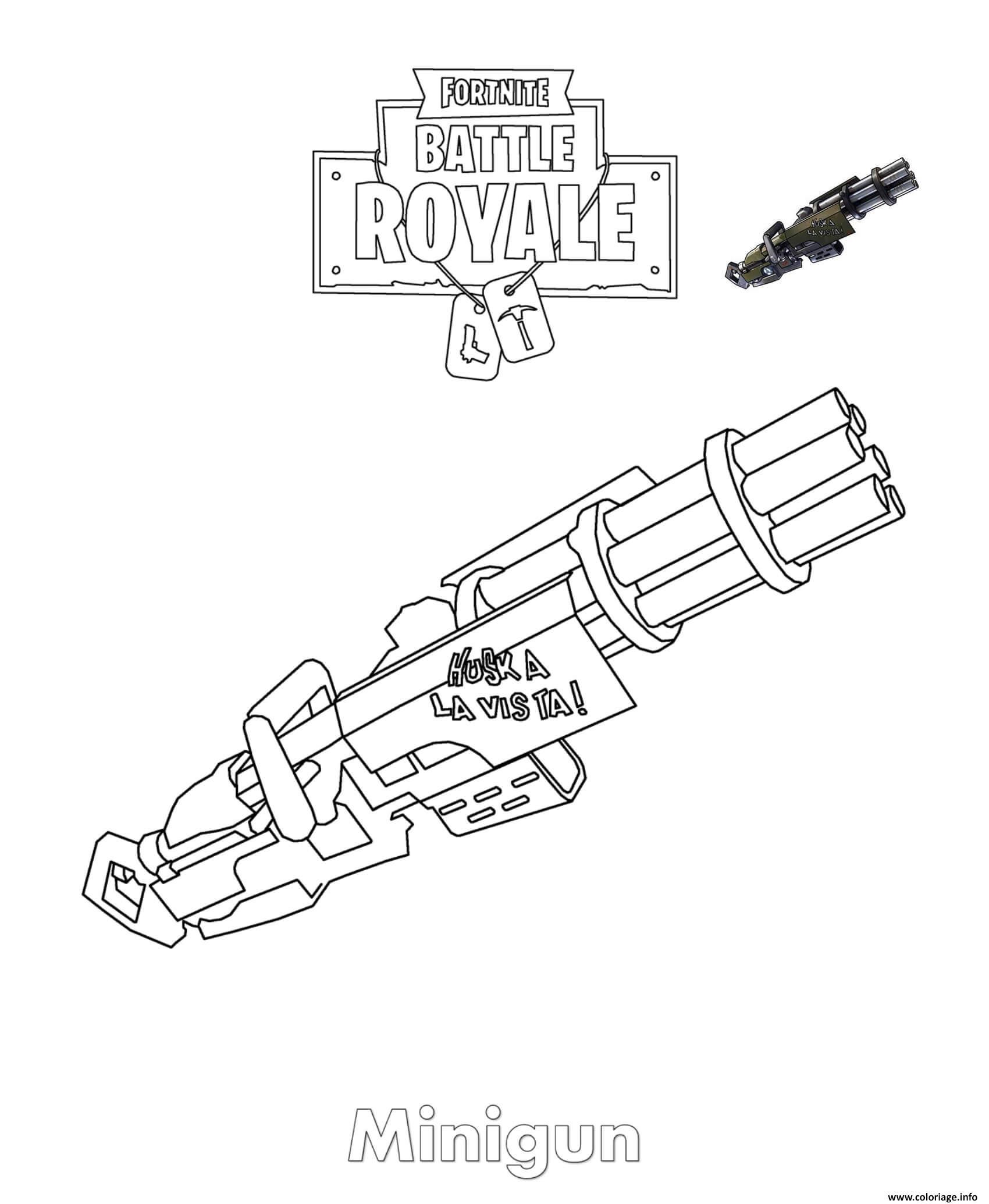 Coloriage A Imprimer Fortnite Arme.Dessin Fortnite Minigun Escapadeslegendes Fr Fortnite Free V Bucks