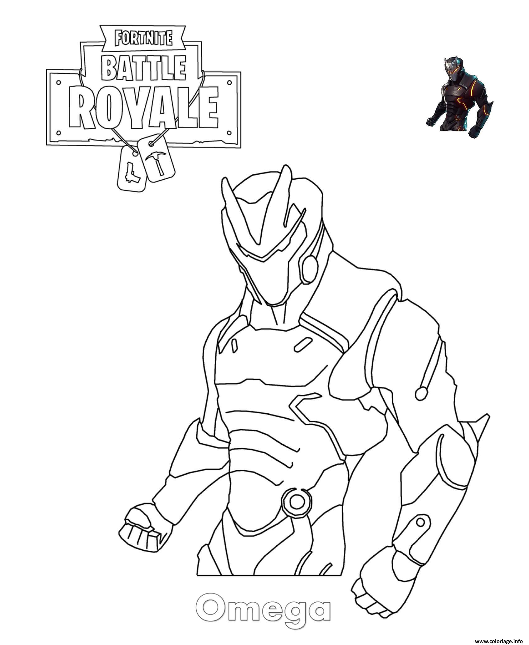 Coloriage Omega Fortnite dessin