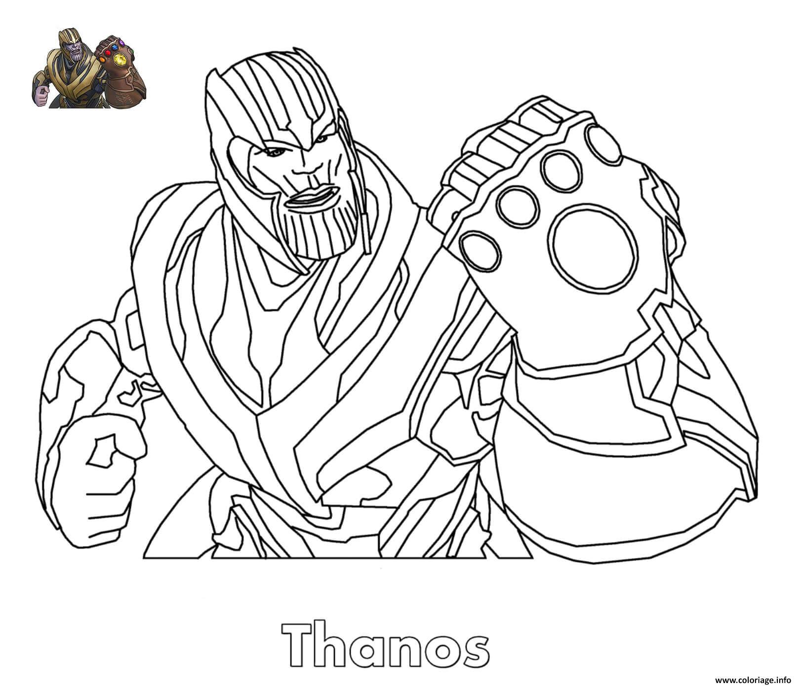 Coloriage Thanos Fortnite dessin