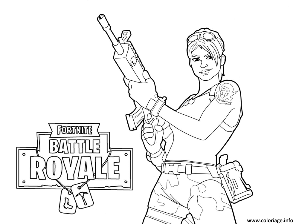 Coloriage Fortnite Master Grenadier dessin