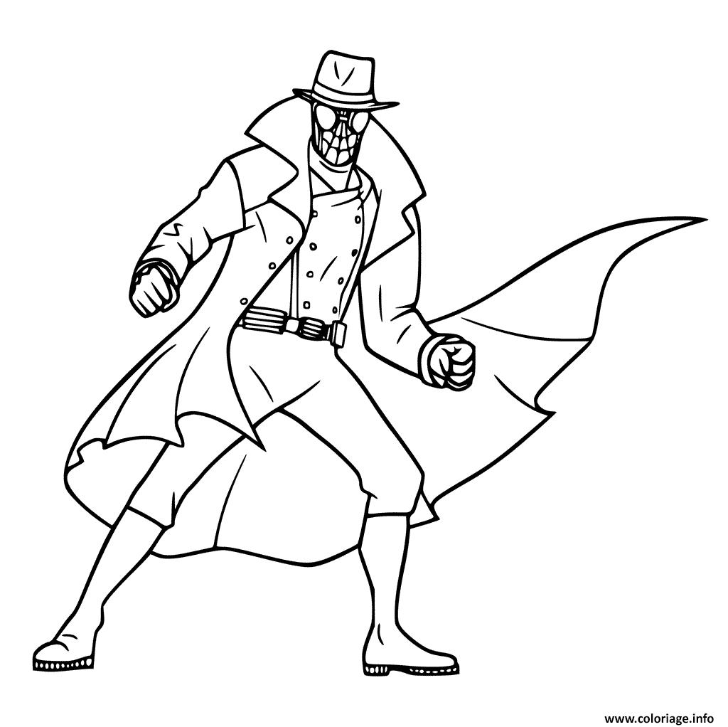 Coloriage Spider Man Noir dessin