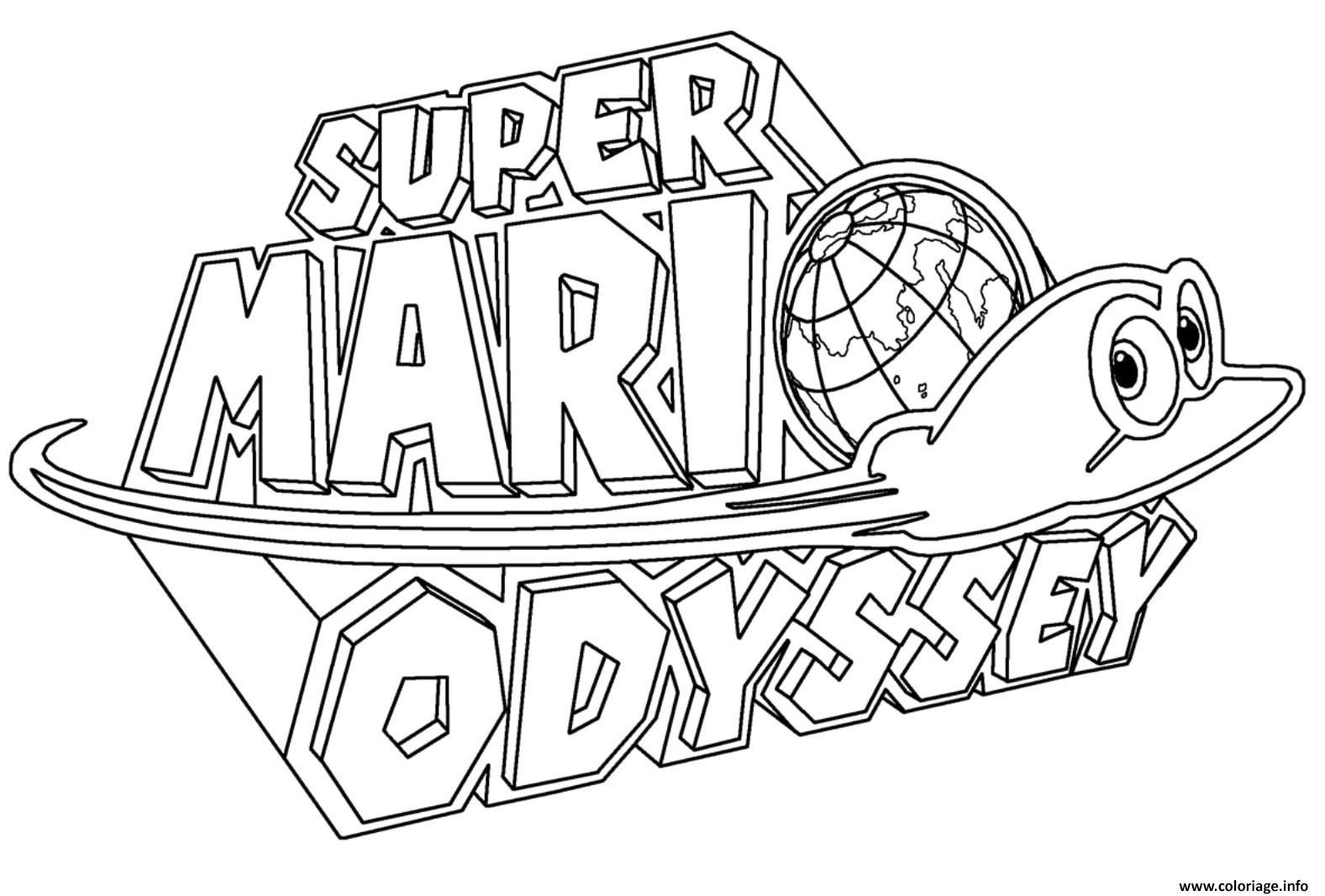 Super Mario Odyssey Kleurplaat