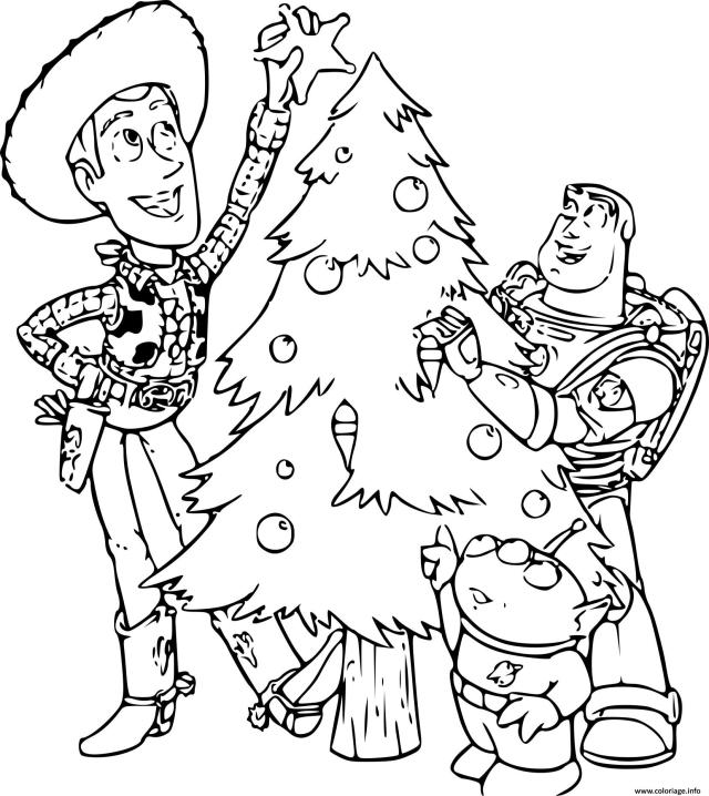 Coloriage Toy Story Noel Dessin Toy Story à imprimer