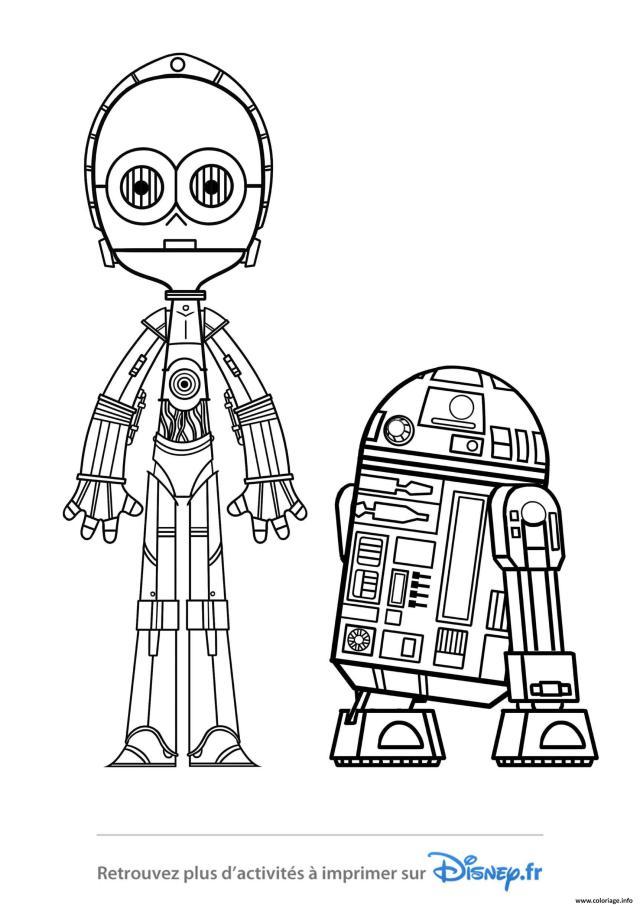 Coloriage Star Wars R24 Et 24 Po Disney 24019 Dessin Star Wars à imprimer