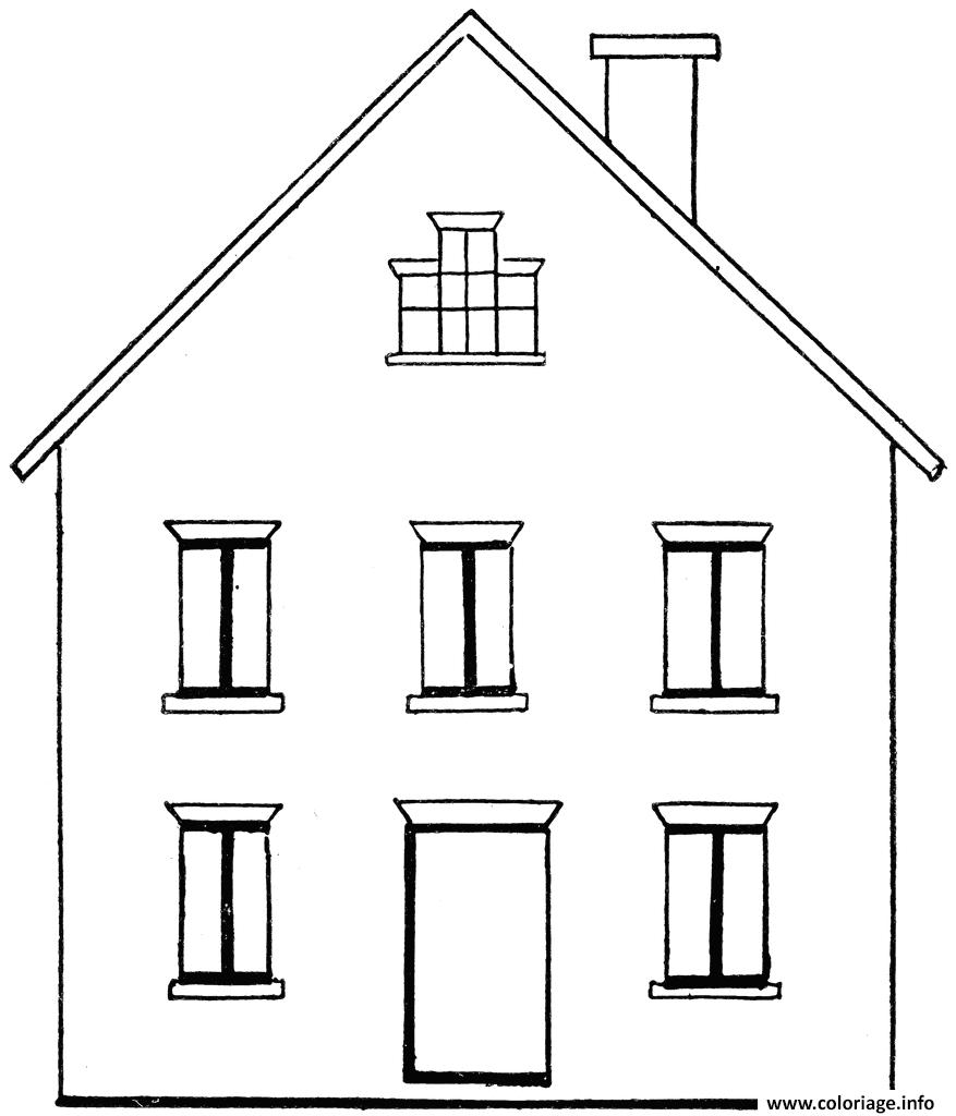Coloriage Maison Batiments Architecture Jecolorie Com