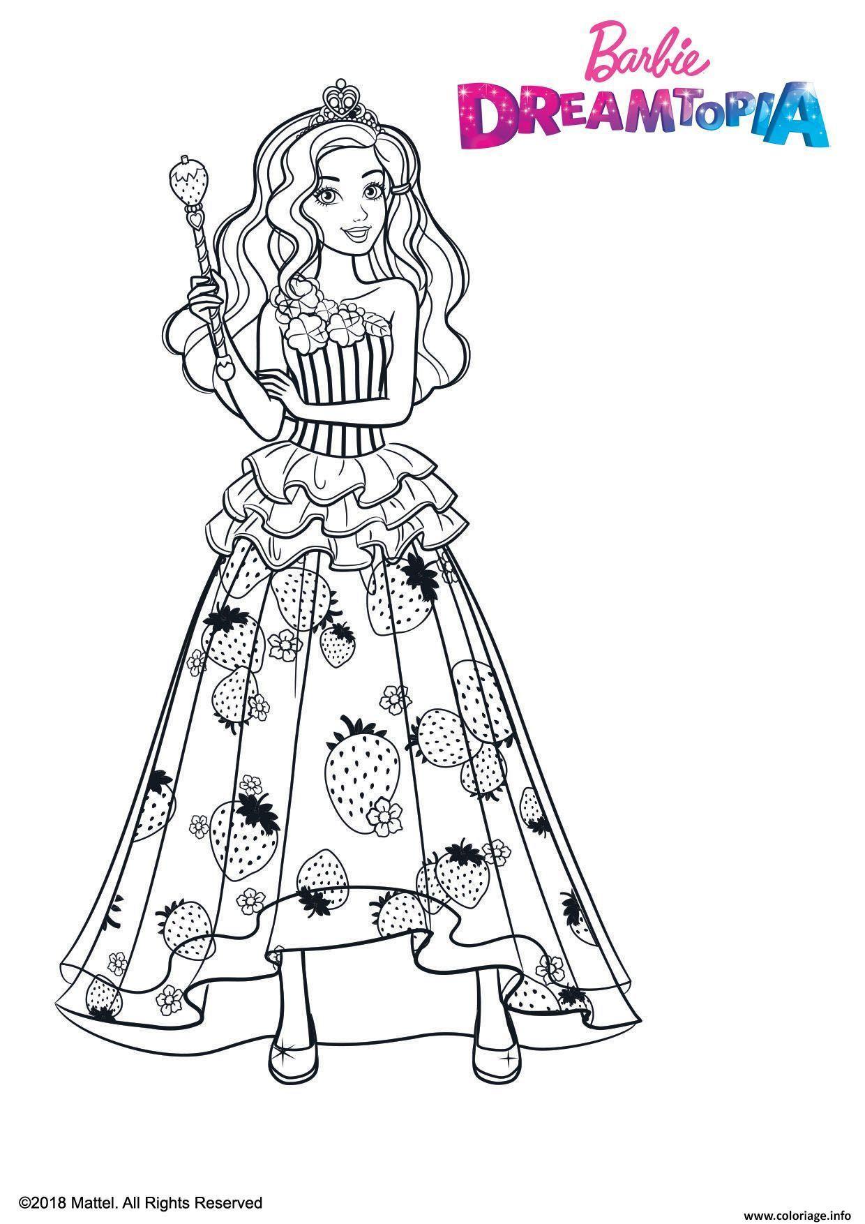 Coloriage Barbie Princesse Bonbons Dessin Gulli à imprimer