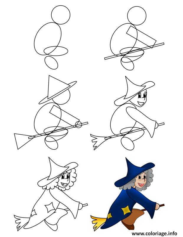 Comment Dessiner Une Sorcière : comment, dessiner, sorcière, Coloriage, Comment, Dessiner, Sorciere, Dessin, Imprimer