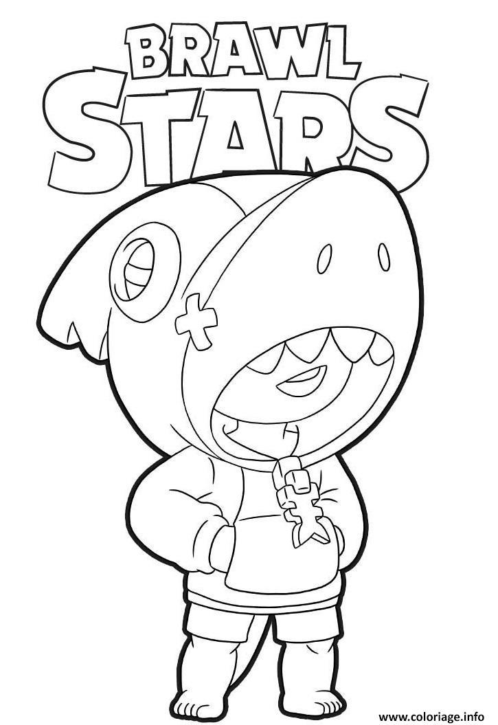 Dessin De Brawl Stars : dessin, brawl, stars, Coloriage, Shark, Brawl, Stars, JeColorie.com