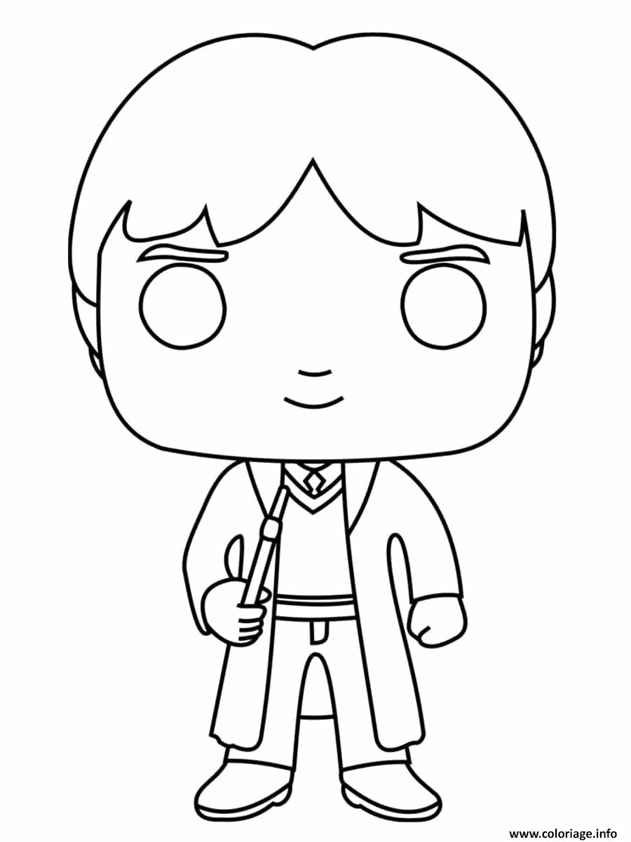 Coloriage Ron Weasley Funko Pop Dessin Harry Potter à imprimer