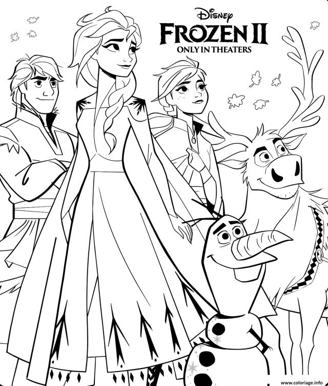 Coloriage Disney Frozen 19 Dessin La Reine Des Neiges à imprimer