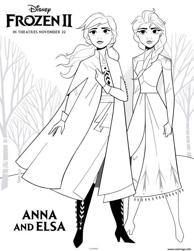 Coloriage Frozen 7 Anna And Elsa Dessin La Reine Des Neiges à imprimer