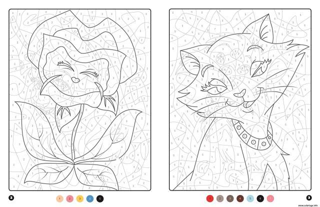 Coloriage Magique Disney Chat Et Plante Dessin Magique à imprimer