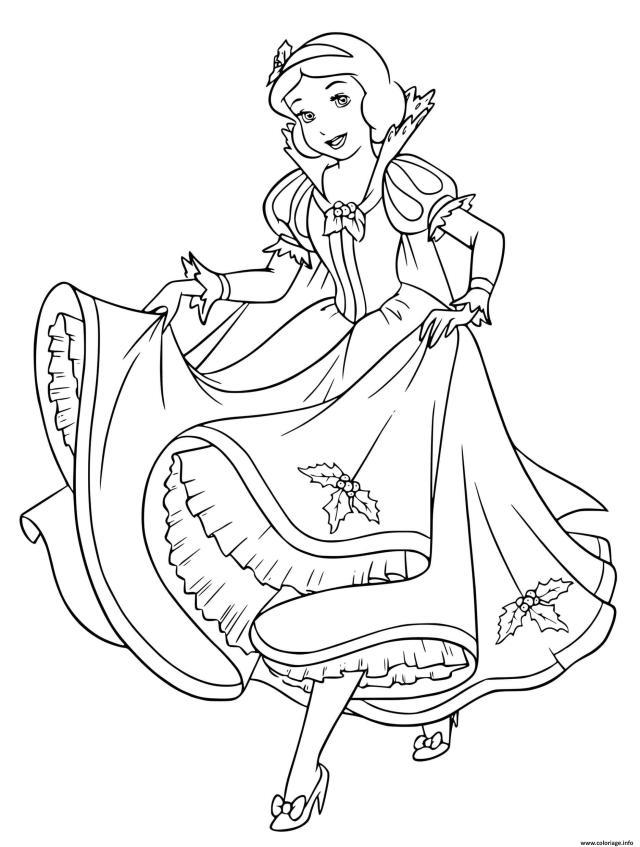 Coloriage Princesse Blanche Neige Attend Son Prince Charmant