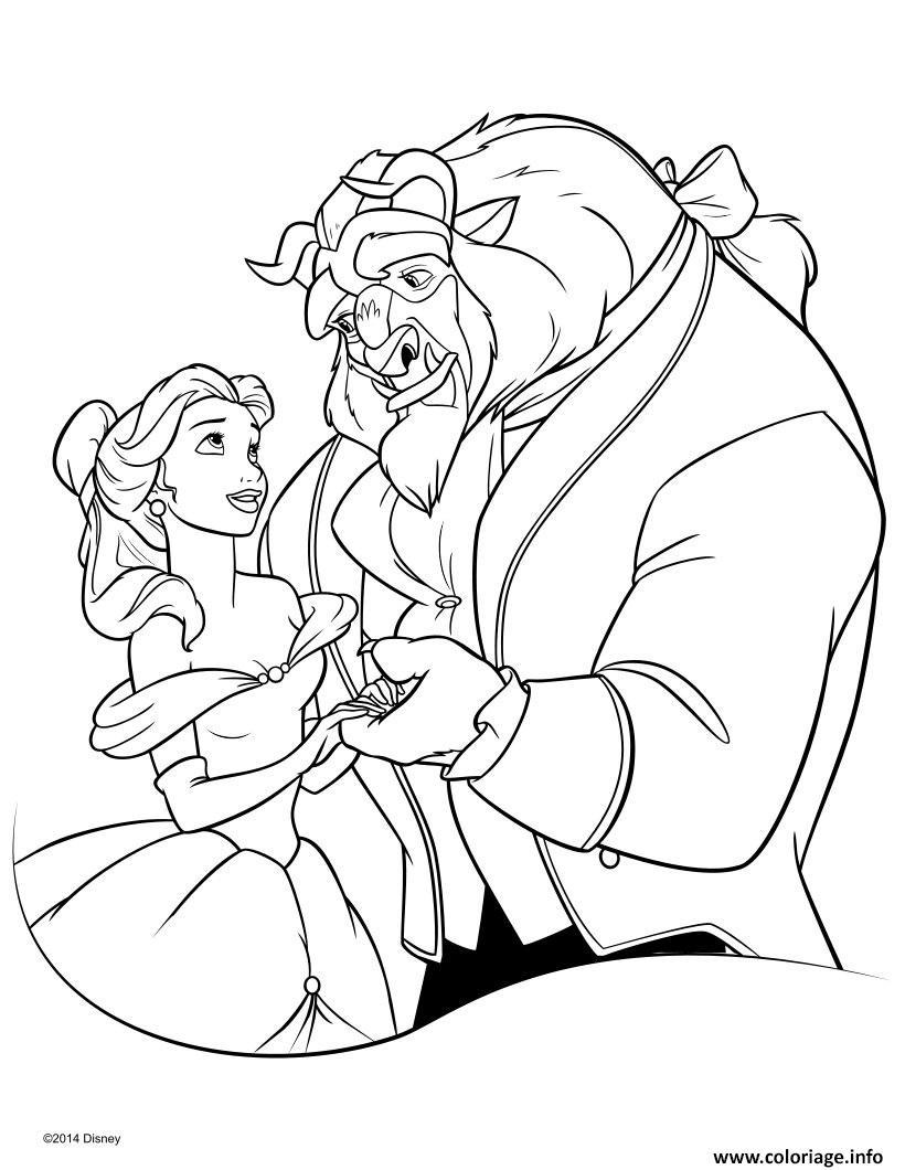 La Belle Et La Bete Dessin Facile : belle, dessin, facile, Coloriage, Disney, Belle, Dessin, Imprimer