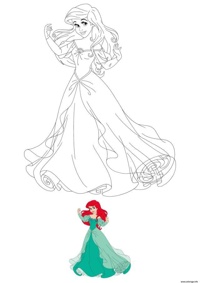 Coloriage Disney Princesse Ariel Dessin Princesse à imprimer