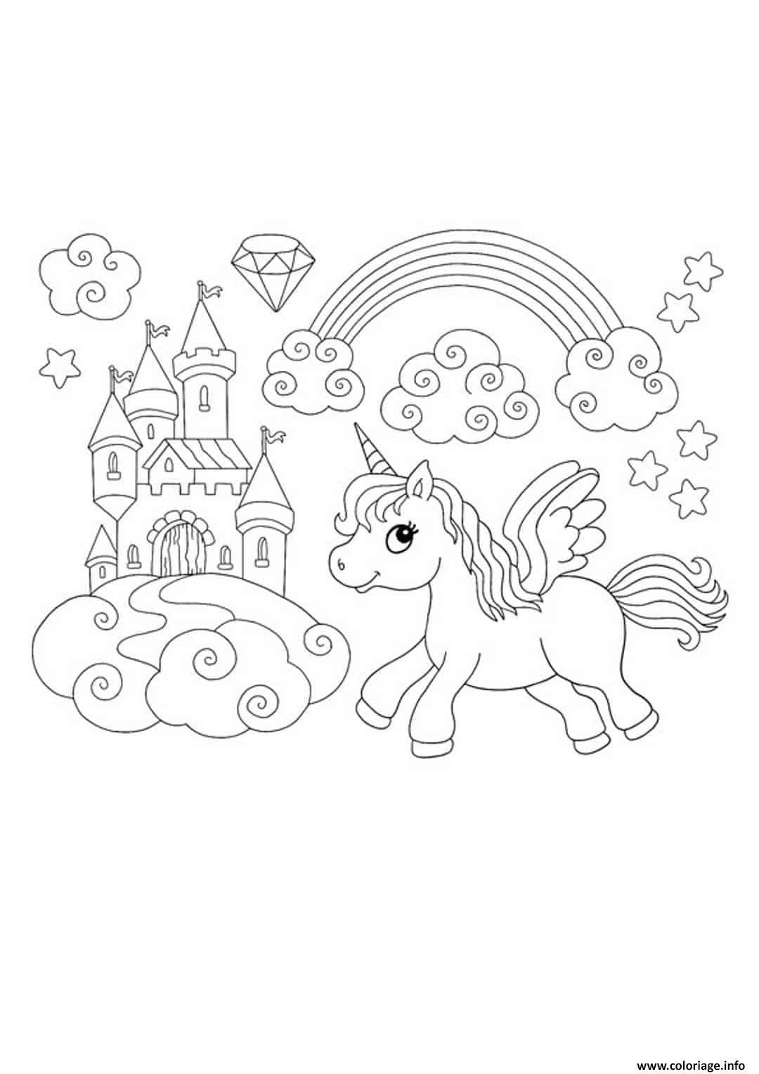 Coloriage A Imprimer Licorne Arc En Ciel / Coloriage Licorne A ...