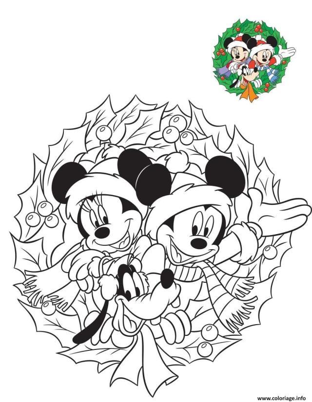 Coloriage Mickey Et Minnie Preparent Les Fetes De Fin Dannee