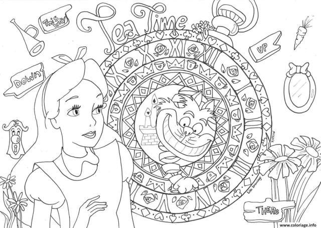 Coloriage princesse cendrillon disney adulte - JeColorie.com