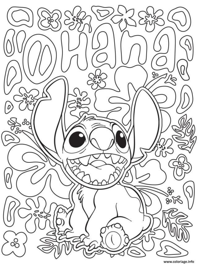 Coloriage Stitch Disney Adulte Dessin Disney Adulte à imprimer