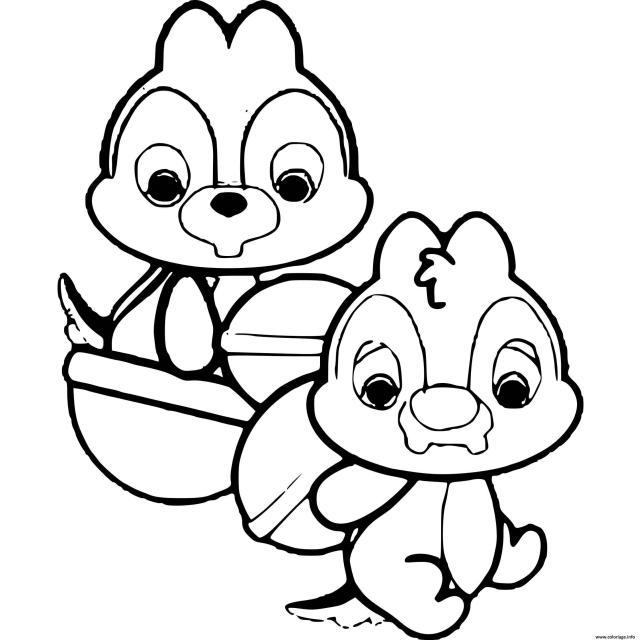 Coloriage Tic Et Tac Dessin Disney Bebe à imprimer