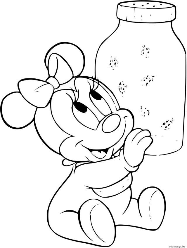 Coloriage Minnie Mouse Joue Dessin Disney Bebe à imprimer