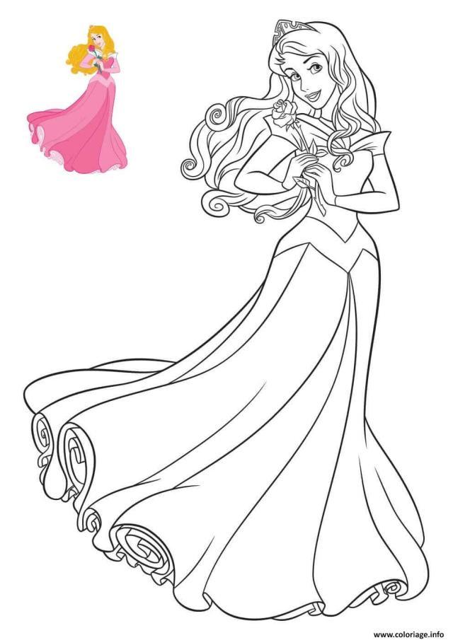 Coloriage Princesse Disney la belle au bois dormant - JeColorie.com